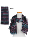 "PTSF2901 - Sketchy Chevron Lightweight Scarf 35""x70"" - David and Young Fashion Accessories"