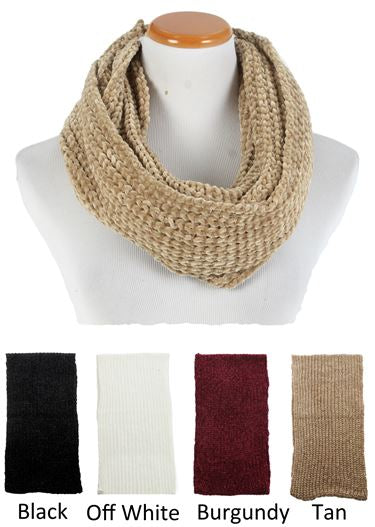 YSINFK1804 - Solid Chenille Loop Scarf - David and Young Fashion Accessories