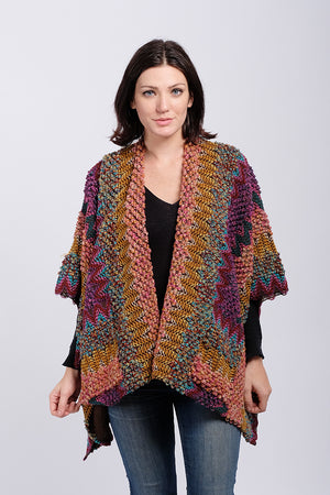 FSORK0012 - Multi Knit Shawl - David and Young Fashion Accessories