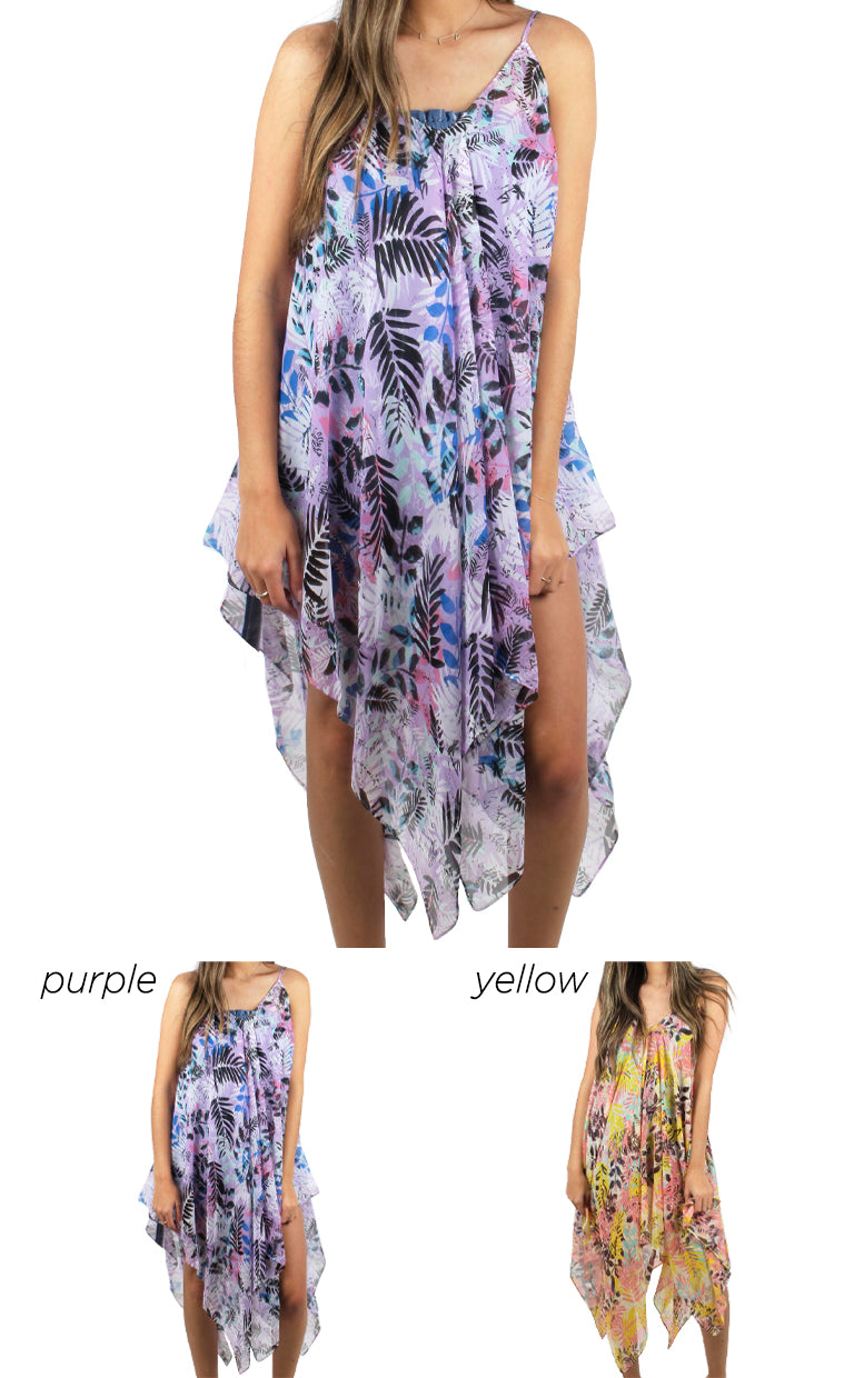 FSTD96872 - Tropical Print Dress Shawl - David and Young Fashion Accessories