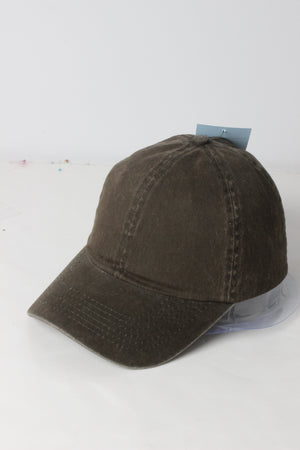 FWCAP4110 - Solid Snow Washed Baseball Cap - David and Young Fashion Accessories