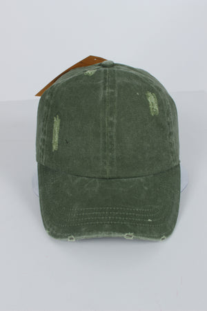 FWCAP4113 - Pigment Wash Distressed Baseball Cap with Adjustable Buckle