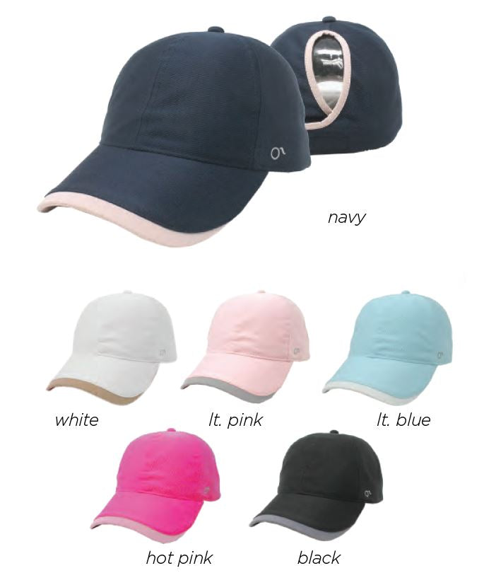 FWCAPT619 - Two Tone Breathable Active Ponyflo Cap - David and Young Fashion Accessories