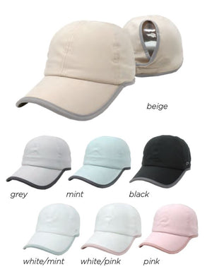 FWCAPT620 - Solid Water Resistant Active Ponyflo Cap - David and Young Fashion Accessories