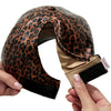 FWCAPT812 - Satin-Lined Leopard Print Ponytail Cap - David and Young Fashion Accessories