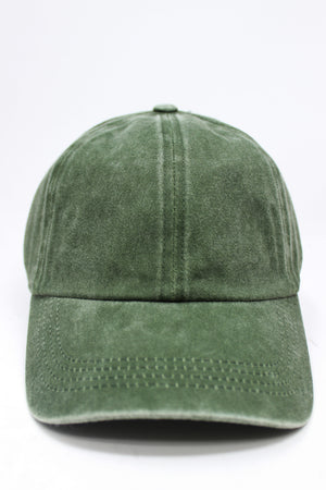 GWCAP18670 - Washed Twill 6 Panel Baseball Cap Buckle Adjustable Closure