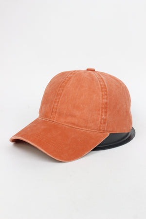 GWCAP18670 - Washed Twill 6 Panel Baseball Cap Buckle Adjustable Closure - David and Young Fashion Accessories