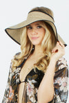 GWVS1901 - Vacay All Day Straw Visor Roll Up - David and Young Fashion Accessories