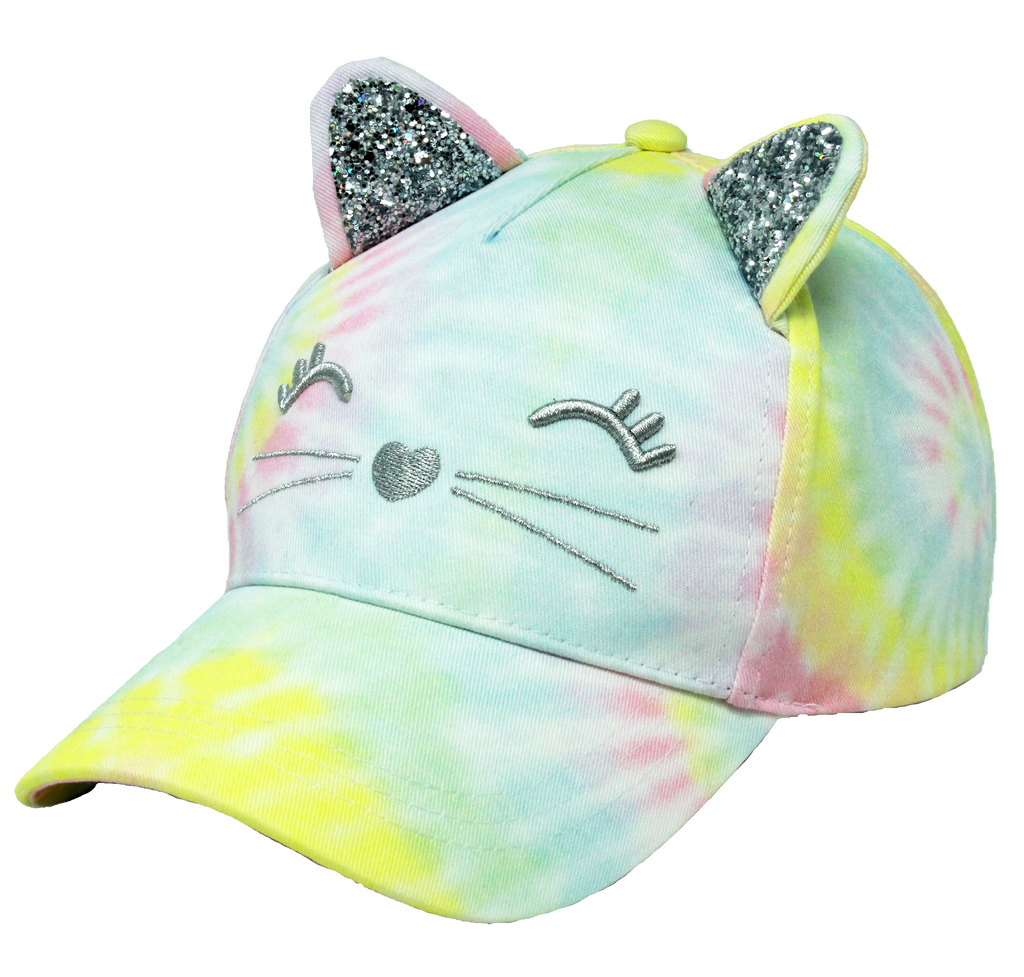 JRFWH70 - Tie Dye Cat Ear Kids Ponyflo Hat - David and Young Fashion Accessories