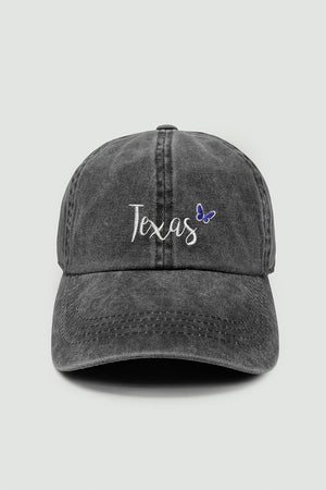 LCAP1414 - Texas State Baseball cap with butterfly