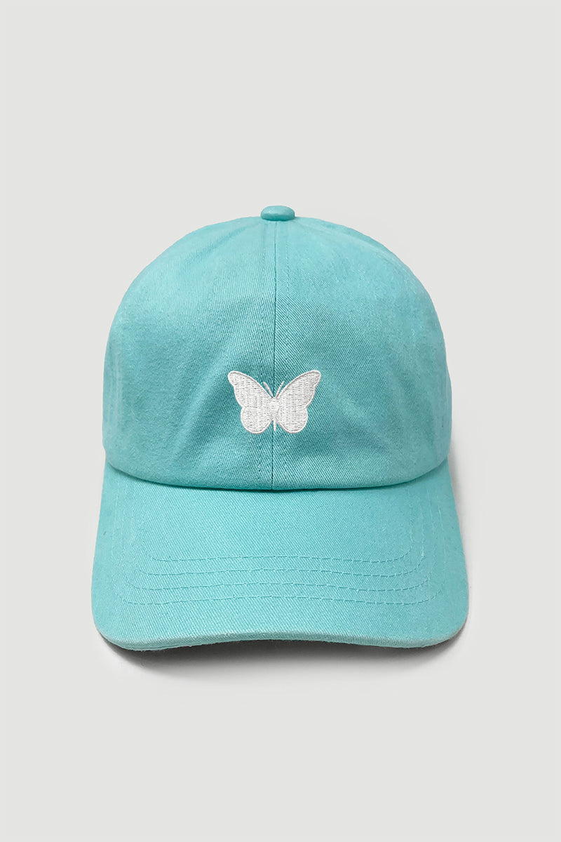 LCAP1463 - White Butterfly Baseball caps