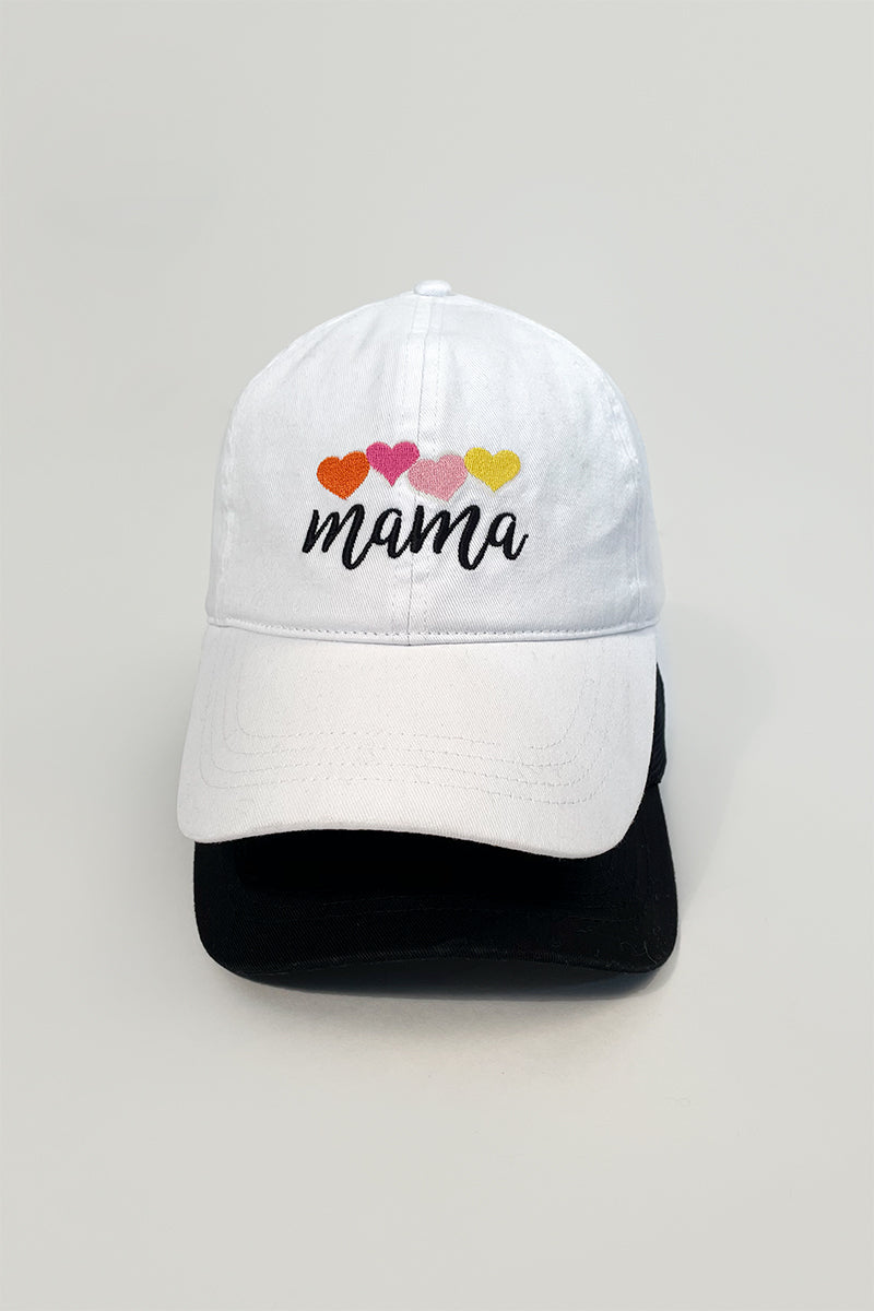 LCAP1467 - MAMA with colorful hearts baseball caps