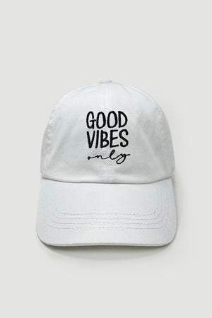 LCAP1470, LCAP1564 - Good vibes only baseball caps