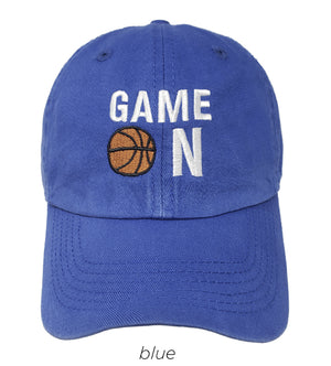LCAP812 - GAME ON Embroidery  vintage wash baseball cap - David and Young Fashion Accessories