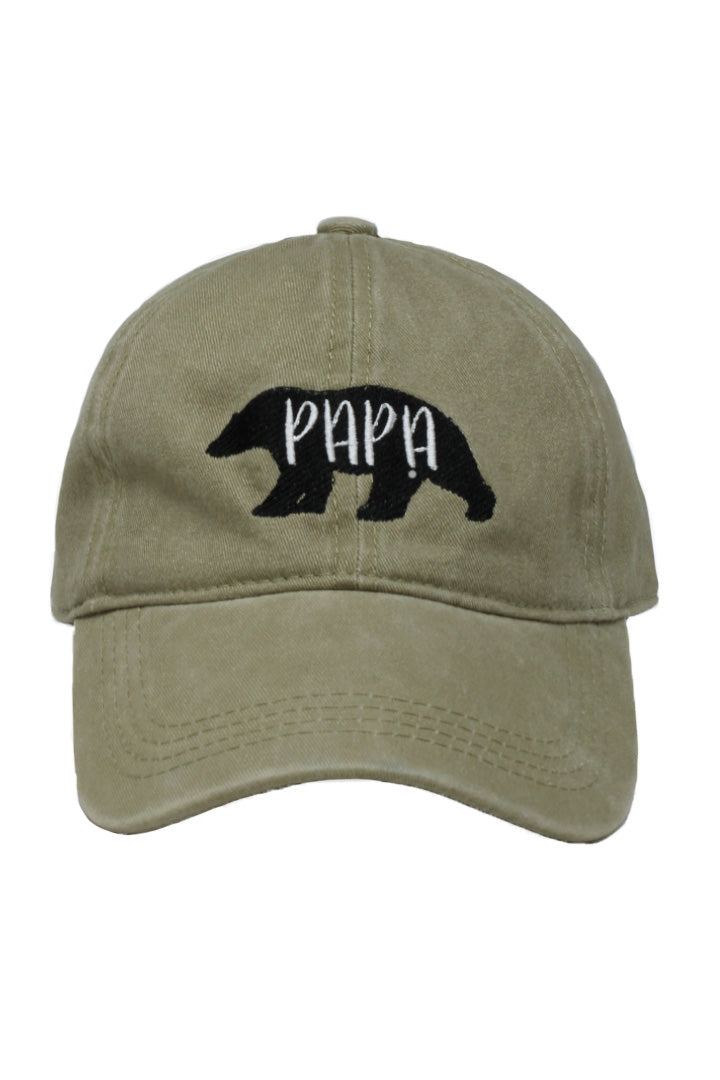 2 Pcs Gray Baseball Hats for Men Dad Caps with Embroidery Adjustable Hat Personality Papa Bear