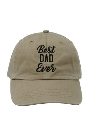 "LCAP880 - Vintage Washed Baseball Cap ""Best Dad Ever"" Embroidery - David and Young Fashion Accessories"