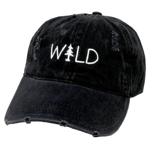 "LCAPT895 - Ponyflo Cap with ""WILD"" Embroidery - David and Young Fashion Accessories"