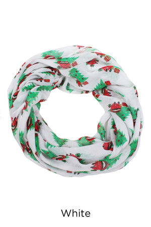 PTINF02020 - Silly Santa Under The Tree Infinity Scarf - David and Young Fashion Accessories