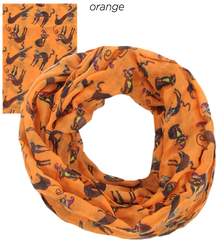 PTINF03566 - Kitty Witch Infinity Scarf - David and Young Fashion Accessories