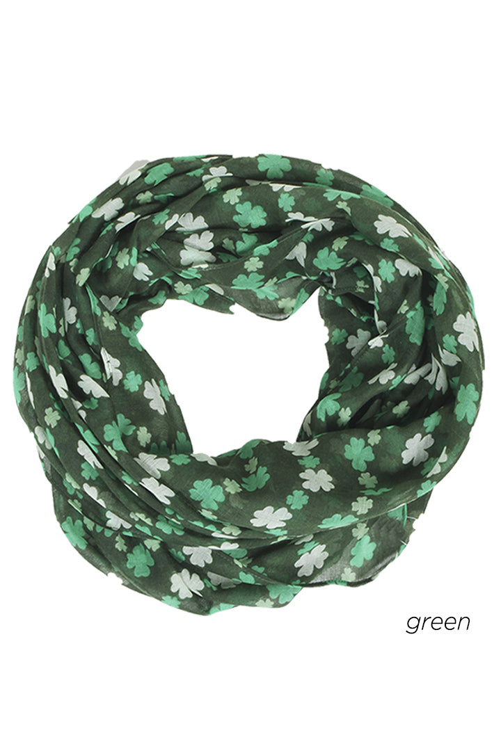 PTINF07790 - Shamrock Chevron Infinity Scarf 30 x 70 - David and Young Fashion Accessories
