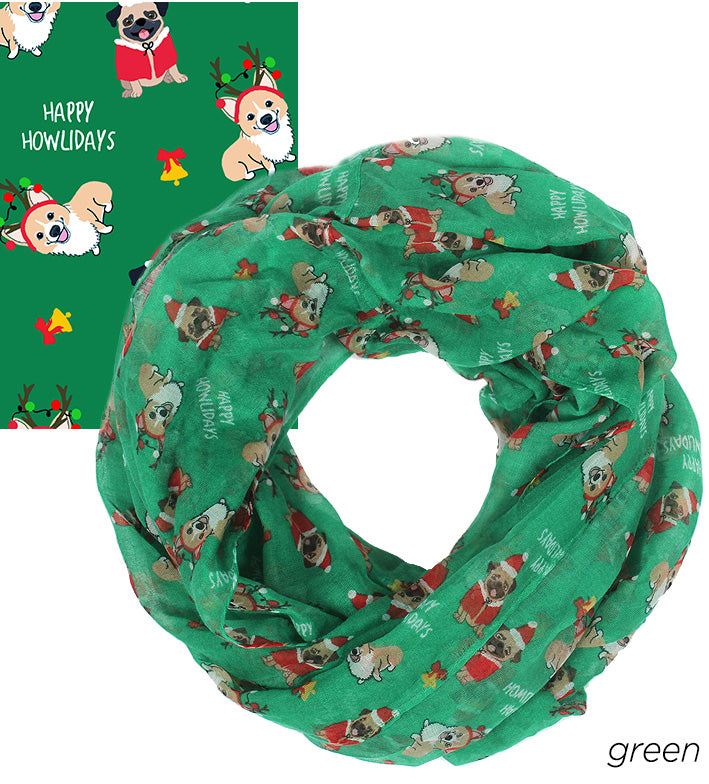 "PTINF5904 - Happy Howlidays infinity scarf 30"" x 70"" - David and Young Fashion Accessories"