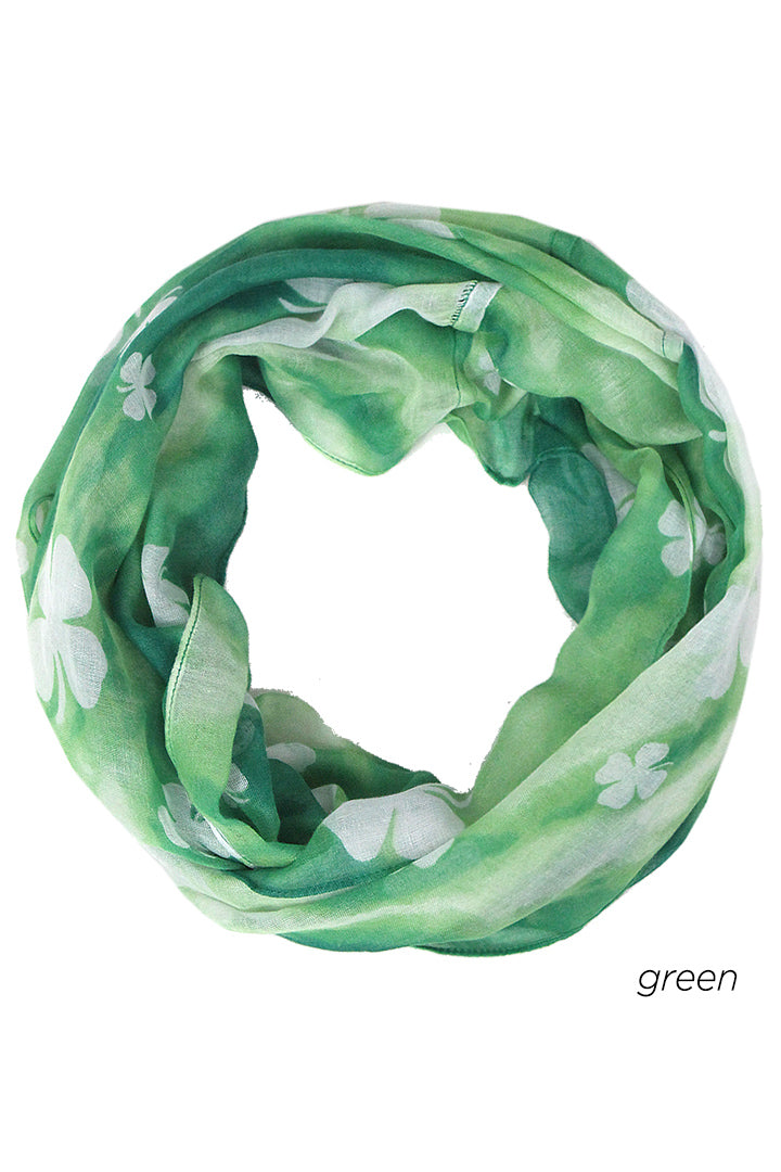 PTINF8007 - Clover Tie-Dye Infinity Scarf 30x70 - David and Young Fashion Accessories