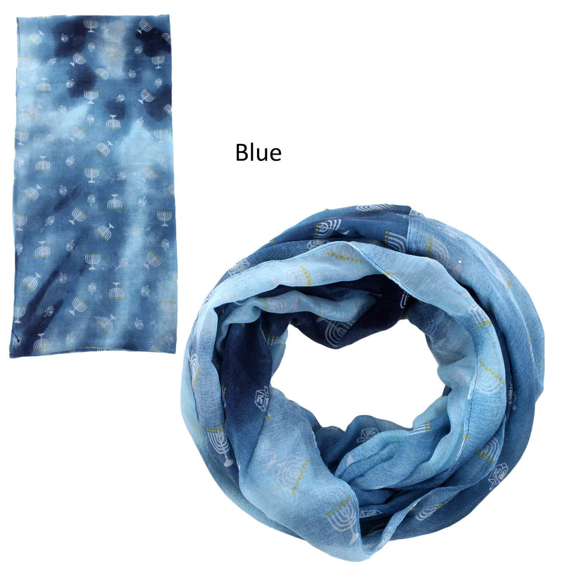 PTINF8014 - Tie Dye Hanukah Infinity Scarf - David and Young Fashion Accessories