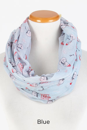 "PTINF8015 - ""HAPPY HOLLA DAYS"" Infinity Scarf - David and Young Fashion Accessories"