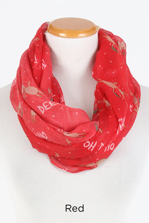 PTINF8017 - Oh Deer Beer Infinity Scarf - David and Young Fashion Accessories