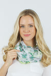 "PTINF902 - Border shamrocks infinity scarf 30""x70"" - David and Young Fashion Accessories"
