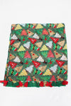 PTPSF03578 - Decorated Christmas Trees Oblong Scarf - David and Young Wholesale