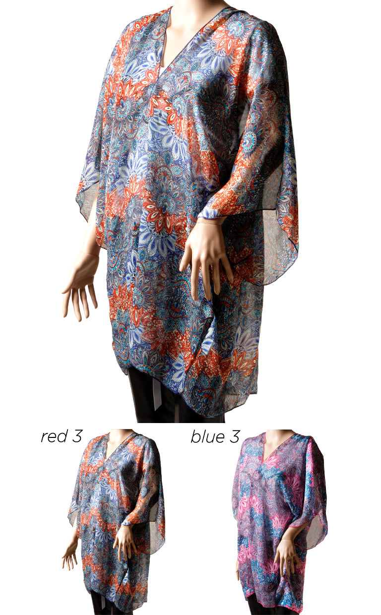 SGSBC0632 - Paisley Kimono Beach Shape Scarf Wrap 31 X 46 - David and Young Fashion Accessories