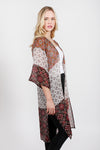 SRTO222 - Mixed Print Shawl - David and Young Fashion Accessories
