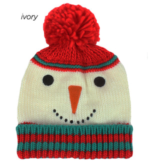 TFBB19026 - knit snowman beanie - David and Young Fashion Accessories