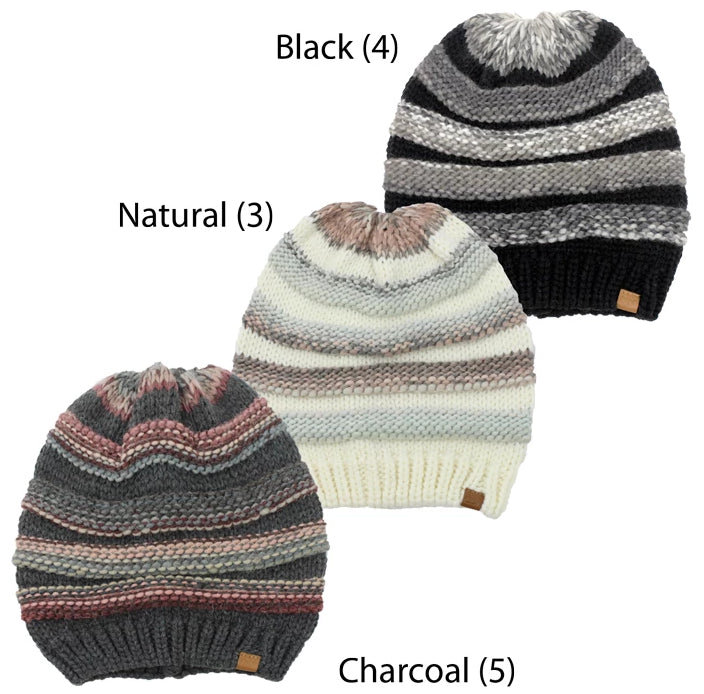 TFBB415 - Space Yarn Knit Beanie (Sold by 12pcs assorted pack) - David and Young Fashion Accessories