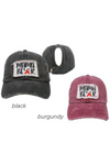 "FWCAPT923 - Ponyflo Cap with ""Mama Bear"" Embroidery - David and Young Fashion Accessories"