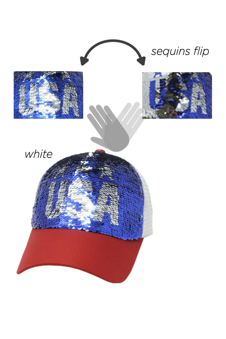 ACAPM5311 - Sequins USA Americana Cap - David and Young Fashion Accessories