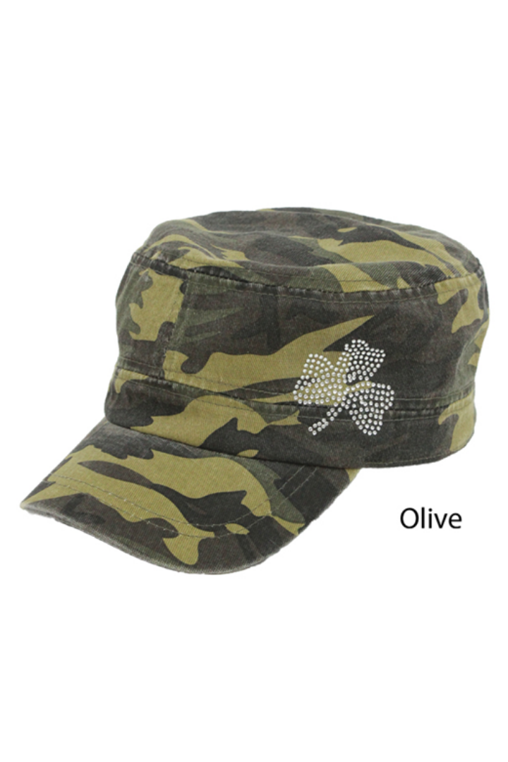 FWCD8015 - Camo Cadet with Shamrock Bling - David and Young Fashion Accessories