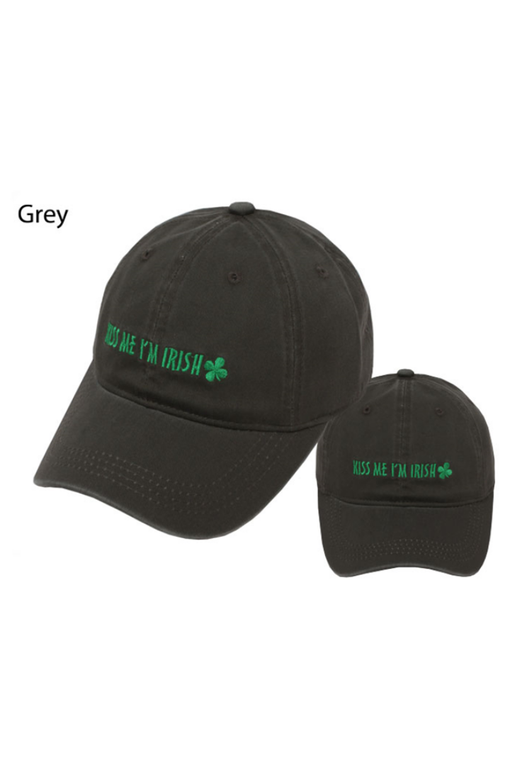 "TCAP22171 - ""Kiss Me I'm Irish"" Embroidery Baseball Cap - David and Young Fashion Accessories"
