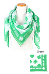 PTSFQ8004 - Kiss Me I'm Irish Square Scarf with Bells 44x44 - David and Young Fashion Accessories