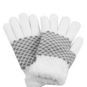PTGL1182 - Diamond Knit Cozy Gloves with Chenille Lining
