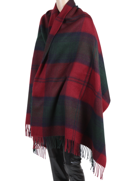 ZOW4301 - Plaid Woven Blanket Square Scarf