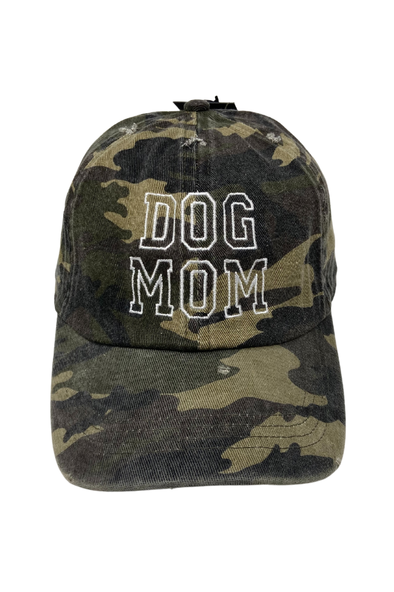 LCAP1449 - Dog Mom Camo Baseball Cap