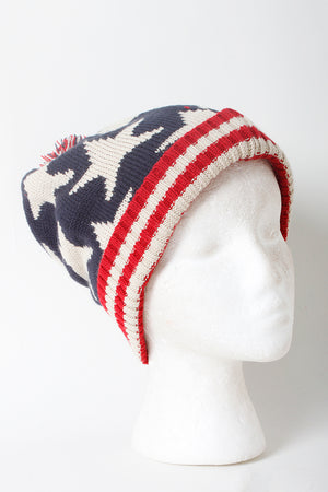 WBB301 - Americana Star Beanie (sold as 12pcs assorted pack) - David and Young Fashion Accessories