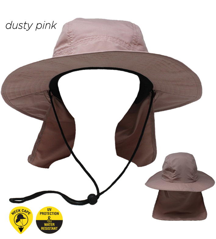 YSBU14 - Outdoor Hat with Neck Cape - David and Young Fashion Accessories