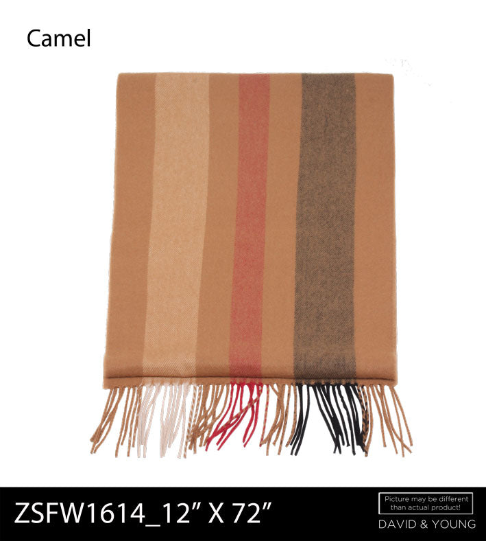 ZSFW1614 - Stripe Softer Than Cashmere™ - Cashmere Touch Scarves - David and Young Fashion Accessories