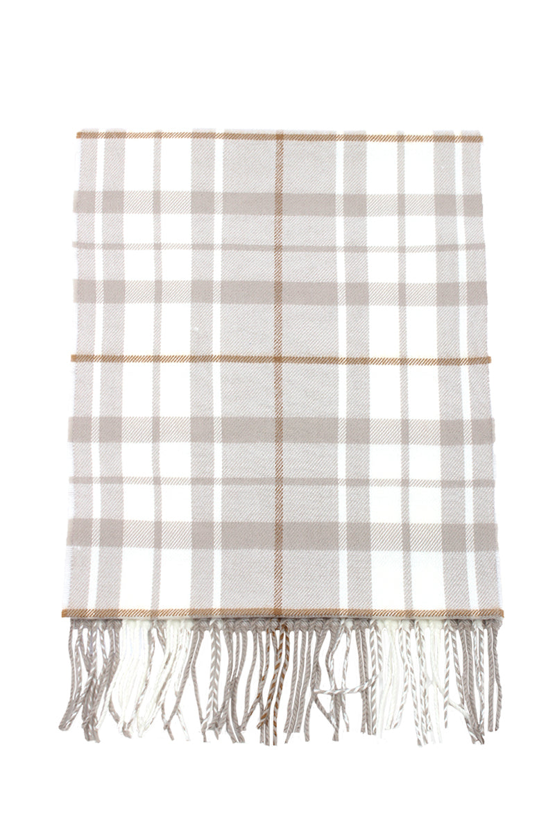 ZTW03055M2 - Plaid Softer Than Cashmere™ - Cashmere Touch Scarves - David and Young Fashion Accessories