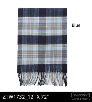 ZTW1732 - Plaid Softer Than Cashmere™ - Cashmere Touch Scarves - David and Young Wholesale