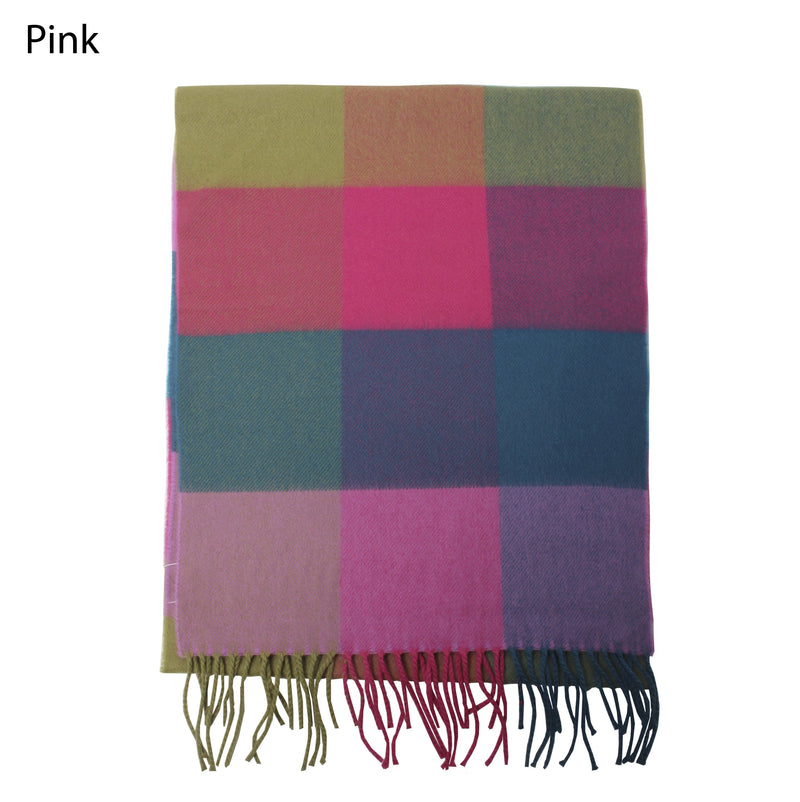 ZTW436 - Plaid Softer Than Cashmere™ - Cashmere Touch Scarves - David and Young Fashion Accessories