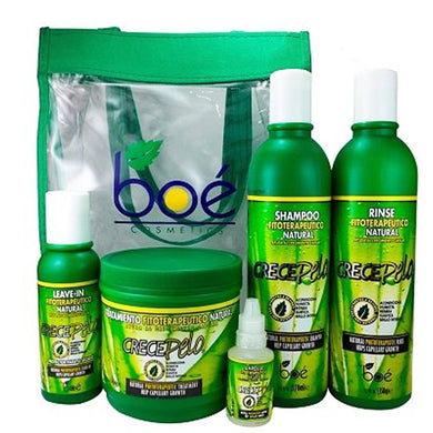 Crece Pelo - Kit 5 Pack - Natural Phitoterapeutic Treatment Help capillary growth